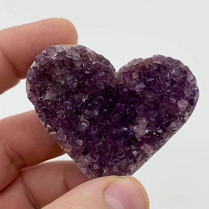 Druzy Amethyst Heart (6cm approx)