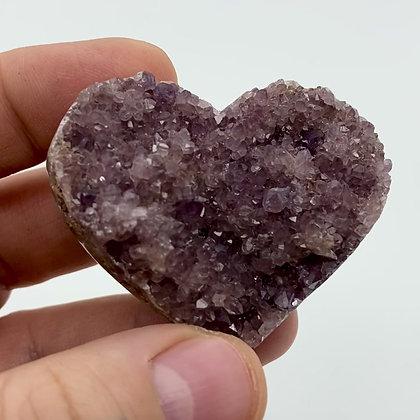Druzy Amethyst Heart (light violet - 5.5cm approx)