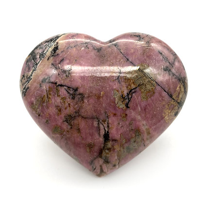 Rhodonite Heart Medium (Pakistan - A Grade - 6.5cm approx)