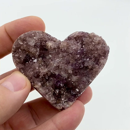 DruzyAmethyst Heart (light violet - 6.6cm approx)