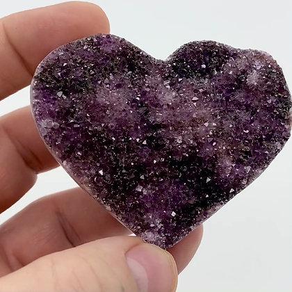 Druzy Amethyst Heart (7cm approx)