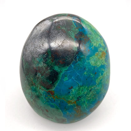 Chrysocolla with Malachite Palm Stone Medium (A Grade)