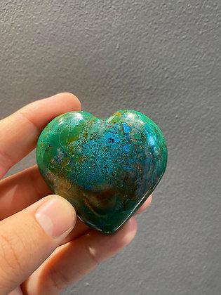 Chrysocolla with Malachite Heart Medium (A Grade)
