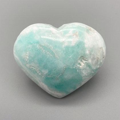 Caribbean Calcite /Blue Aragonite Heart Medium (A Grade - 6cm approx)