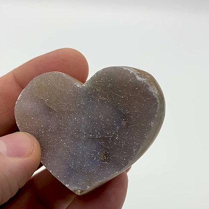 Druzy Chalcedony Heart (Pale Lilac - 5cm approx)