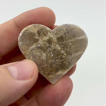 Small Druzy Chalcedony Heart (4cm approx)