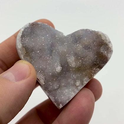 Druzy Chalcedony Heart (6cm approx)