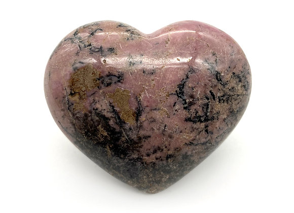 Rhodonite Heart Small (Pakistan - A Grade - 6cm approx)