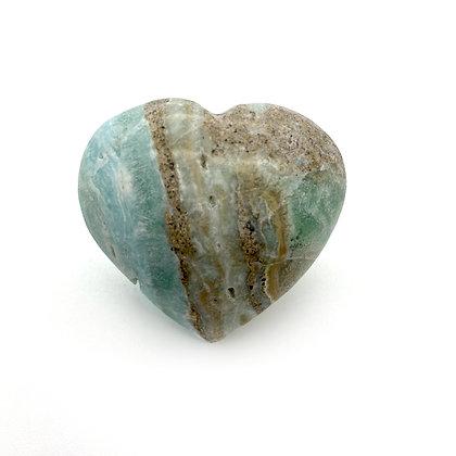 Caribbean Calcite /Blue Aragonite Heart XSmall (A Grade - 4cm approx)