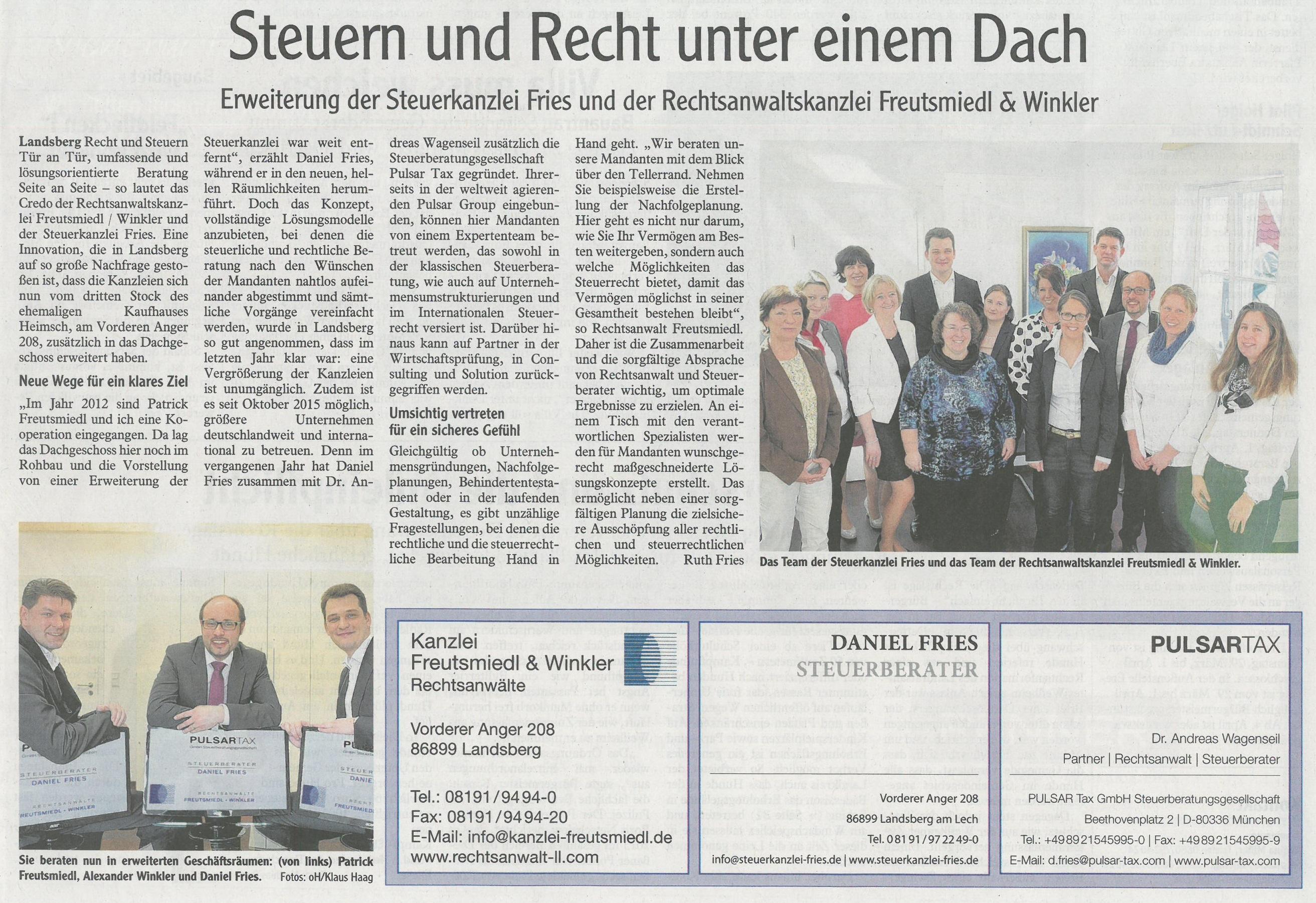 Landsberger Tagblatt, März 2016