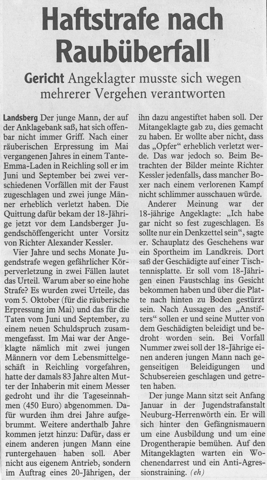 Landsberger Tagblatt, Februar 2016