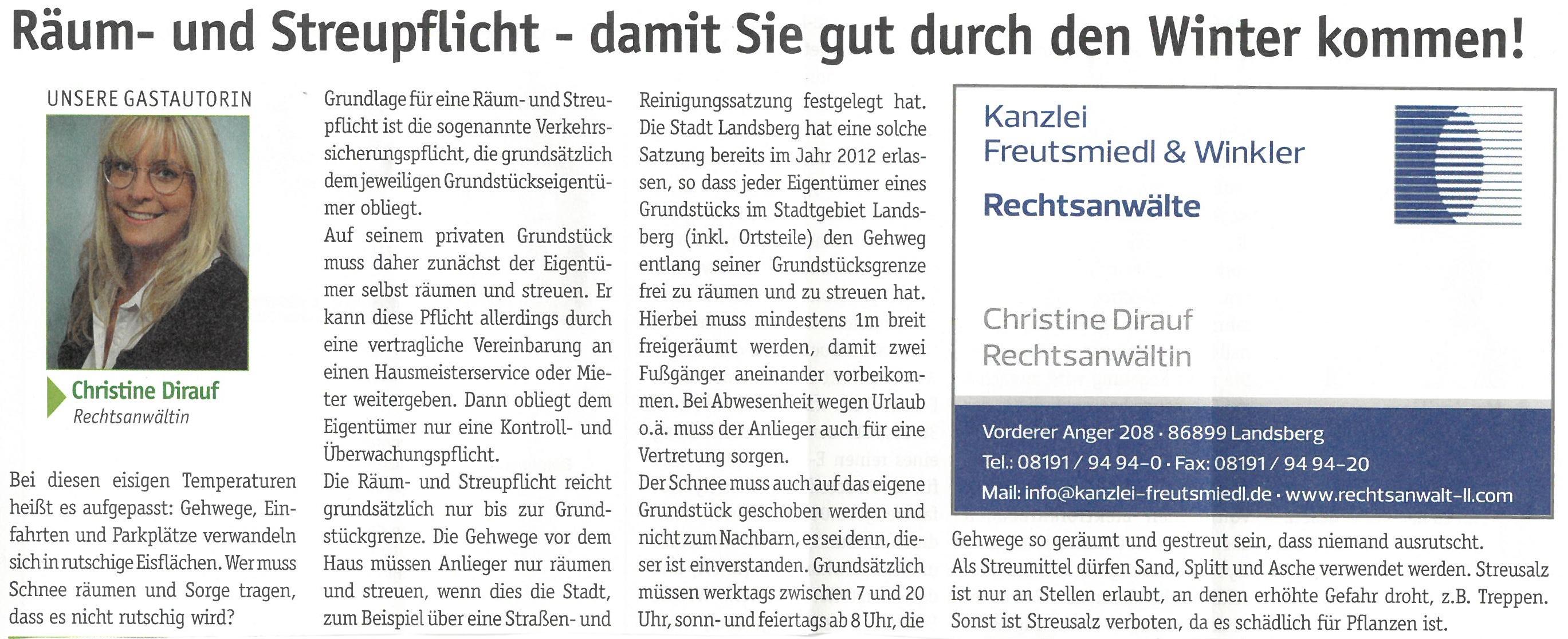 Landsberger Monatszeitung, 01/2019