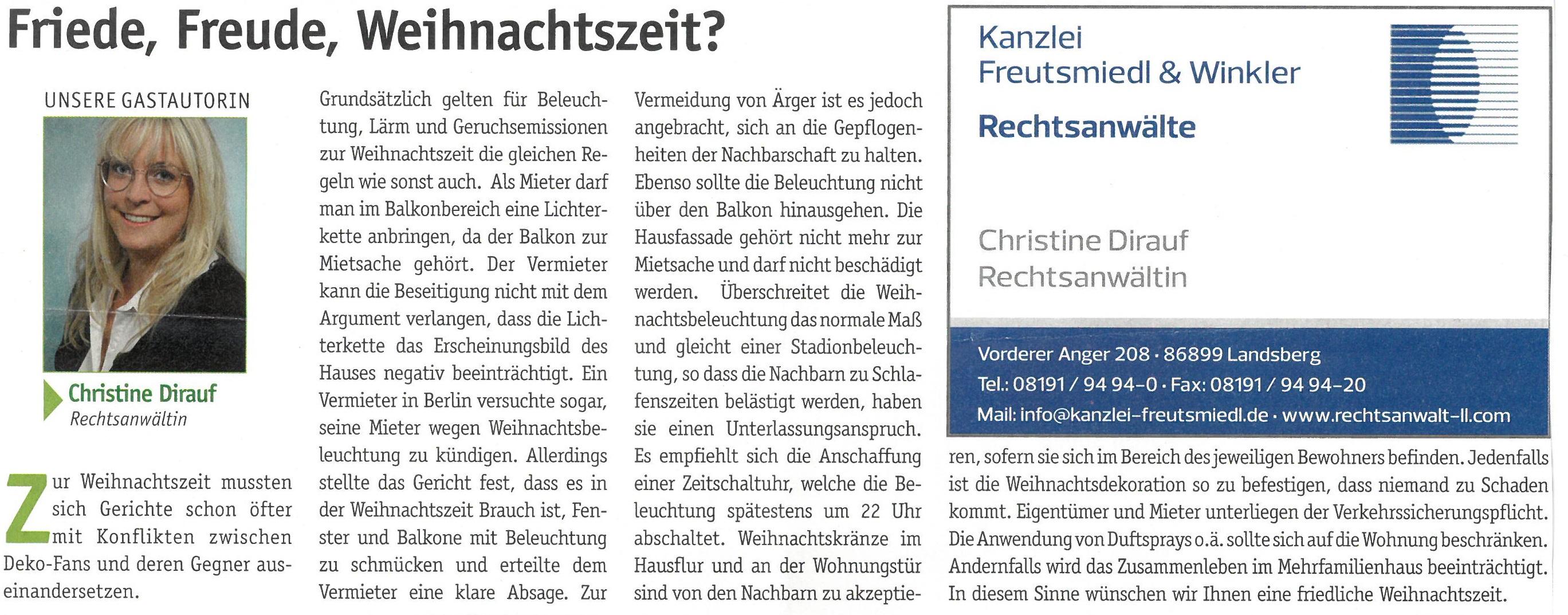 Landsberger Monatszeitung, 12/2018