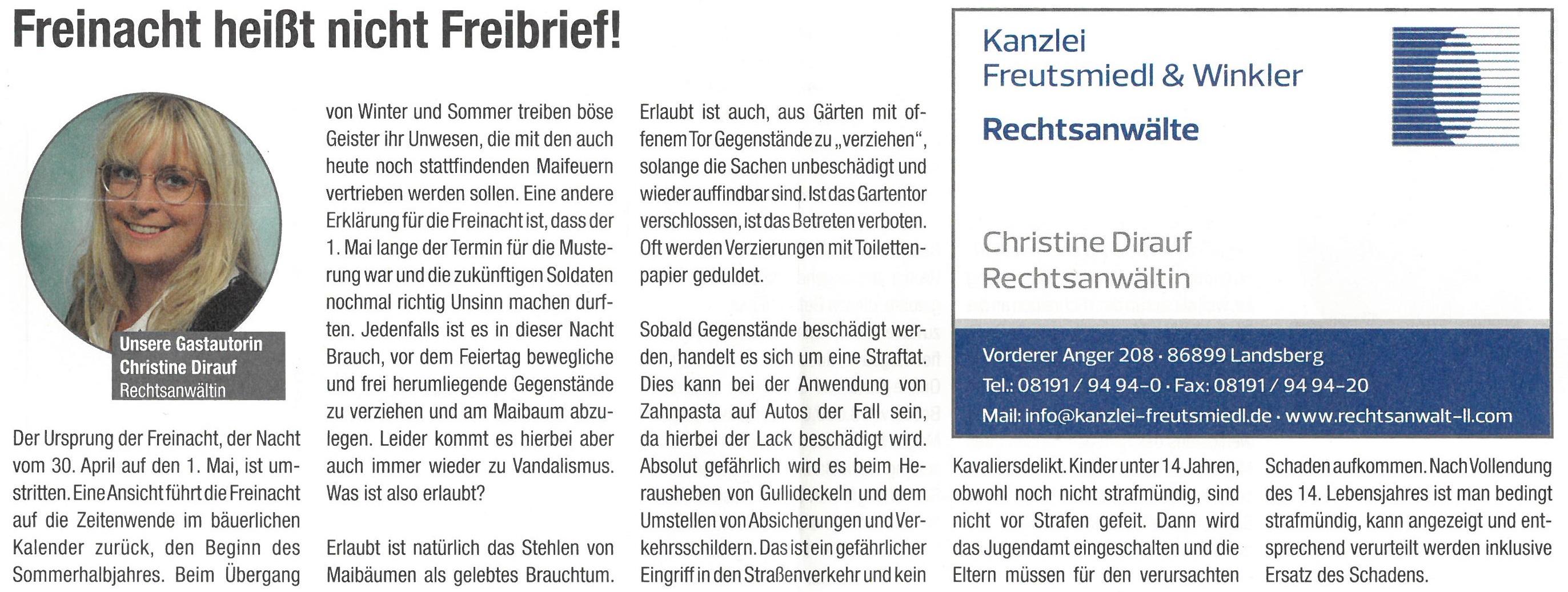 Landsberger Monatszeitung, 04/2019