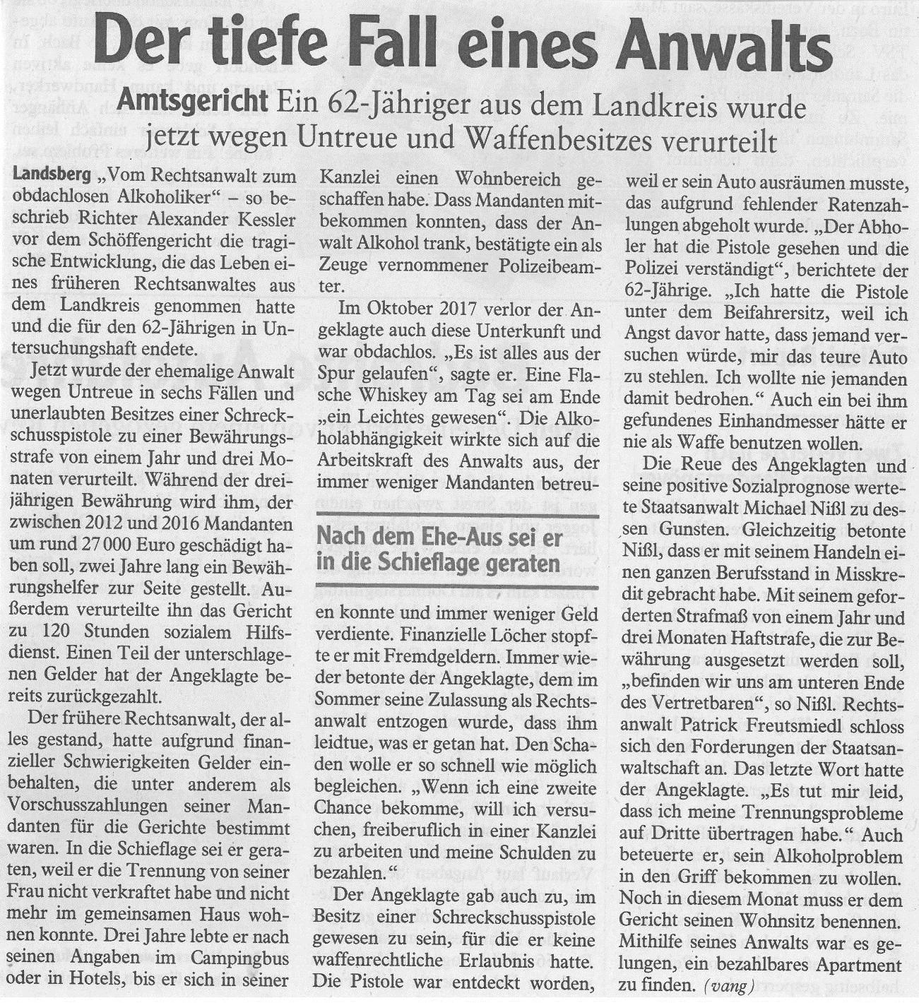 Landsberger Tagblatt, Januar 2018