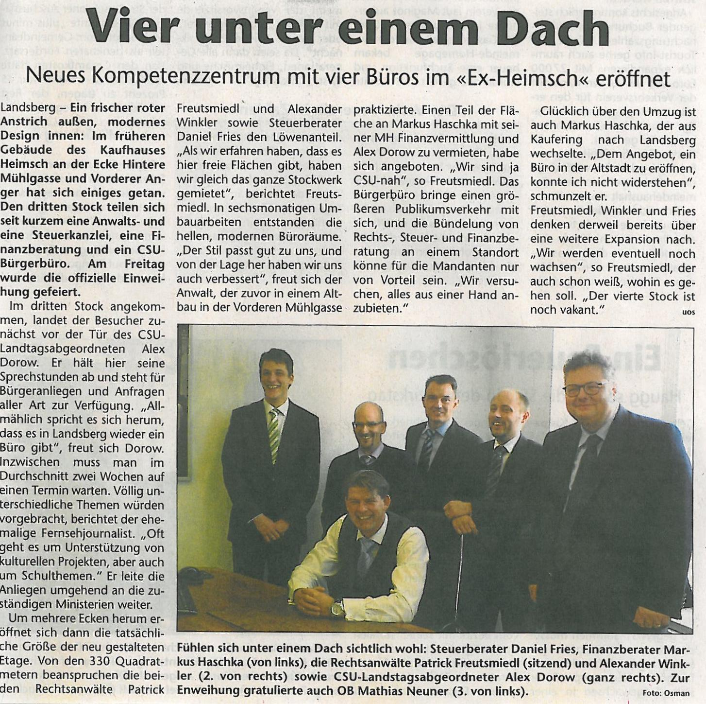 Landsberger Tagblatt, November 2012