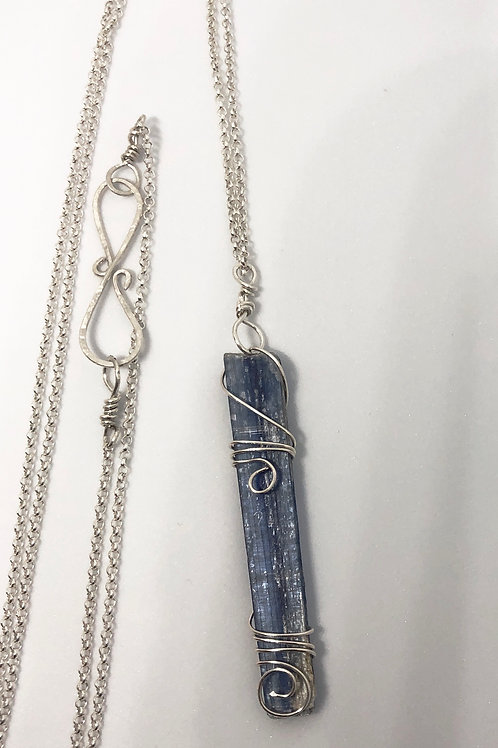 Sterling Silver Wrapped Kyanite Sticks