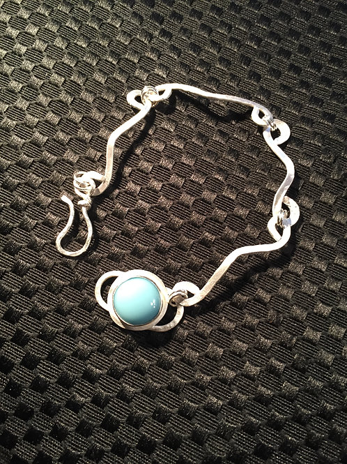Sterling Silver Bracelet with Handcrafted Links