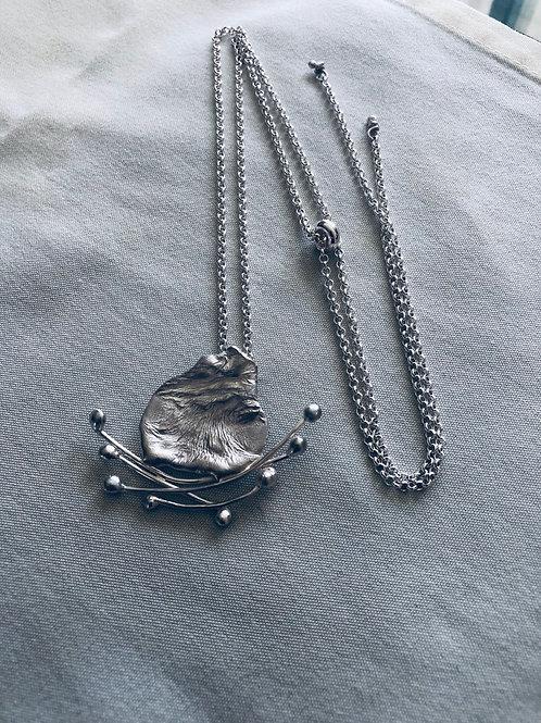 Silver Pendant, Reticulated Silver