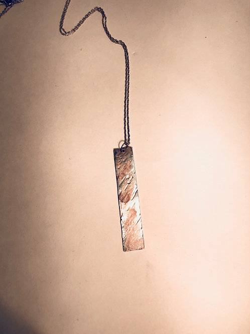 Sterling Silver with Gold Colored Splashes Pendant