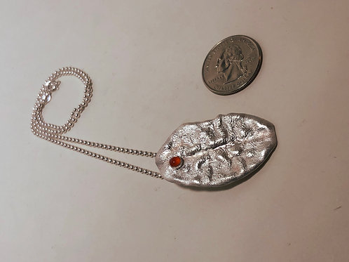 Reticulated Silver with Carnelian