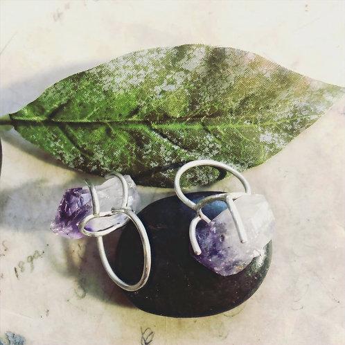 Sterling Silver Amethyst Ring.