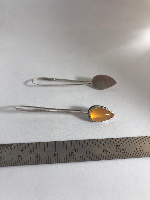 Mexican Opal & Sterling Silver Earrings