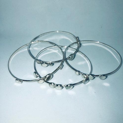 Sterling Silver Organic Bangle Bracelets