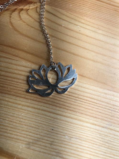 Lotus Leaf Pendant in Sterling Silver