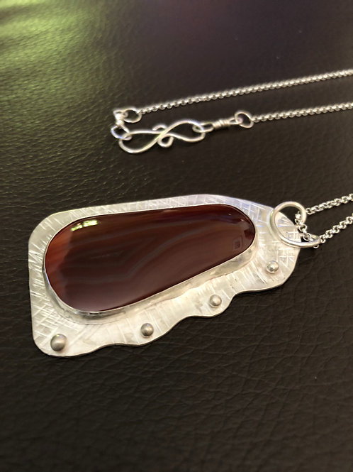 Sterling Silver Pendant with Sierra Madre Gemstone