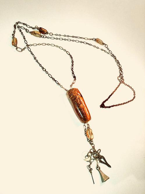 Glass Bead, Vintage Israeli Glass Bead