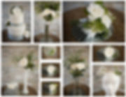 White wedding day flora decoration at Holiday Inn leeds and Bradford