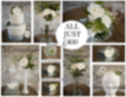 All inclusive weeding day floral decoration package