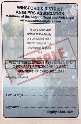 Adult WDAA Fishing Permit Expires 31st May 2021
