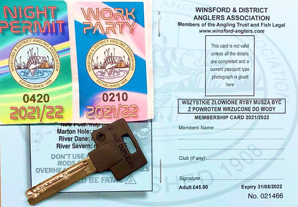 Adult Permit,Includes Gate Key, plus Night and Work party Stickers