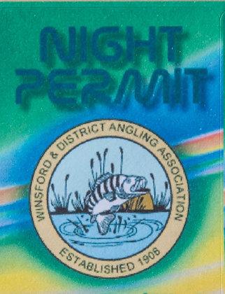 Night Permit Sticker