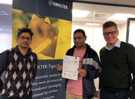 Smoltek celebrates IP milestone