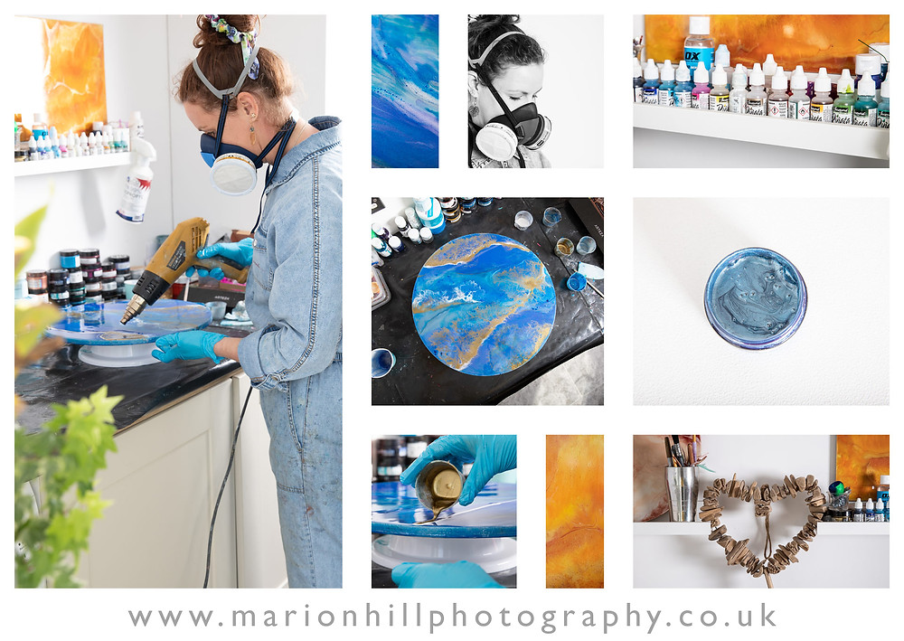 Marion Hill Photography personal branding Resin art
