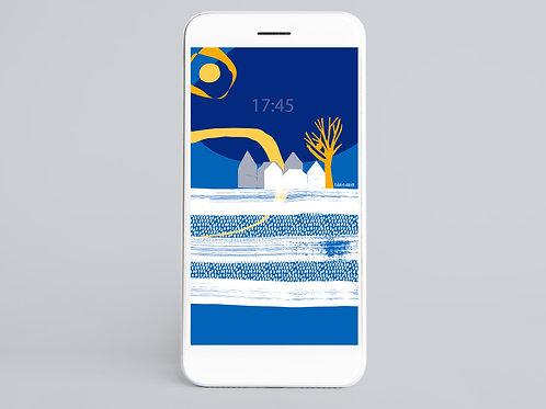 Yellow & Blue Phone Wallpaper