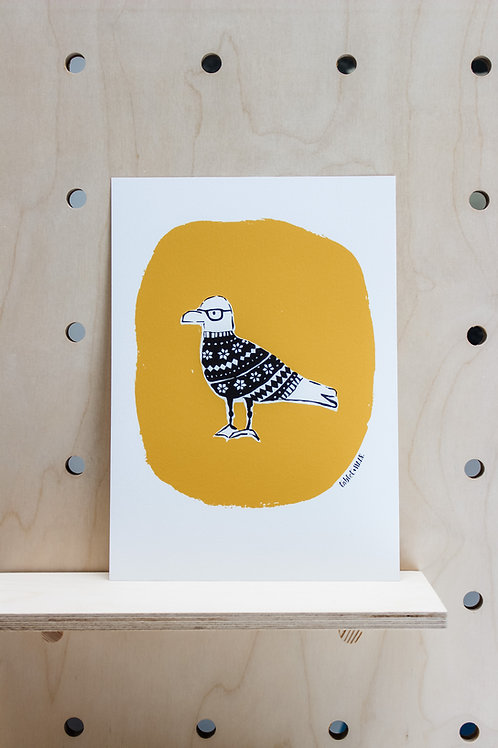 GULL IN FAIR ISLE PRINT