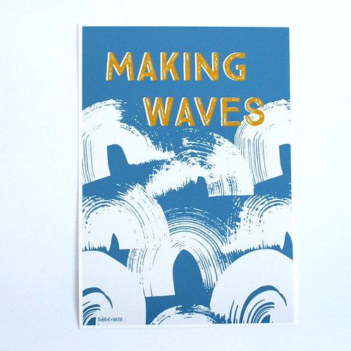 MAKING WAVES PRINT