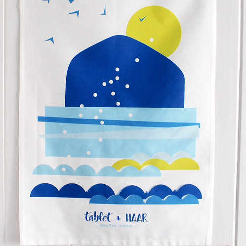 BASS ROCK TEA TOWEL