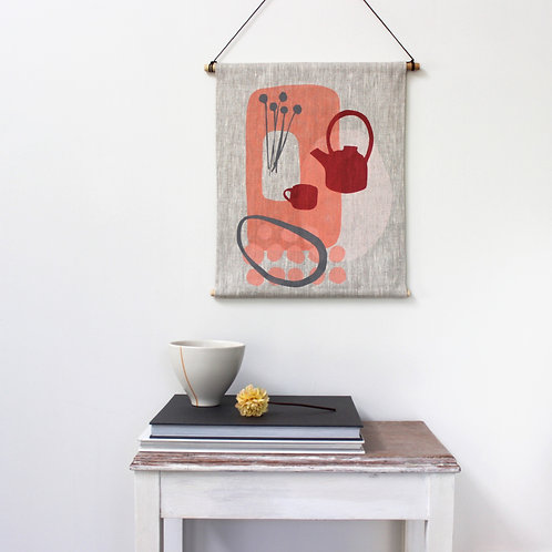 STILL LIFE WITH TEAPOT WALL HANGING