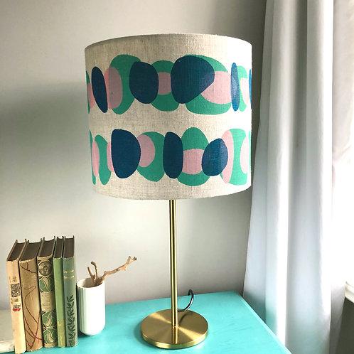 PINK/AQUA SKIMMING STONES LAMPSHADE