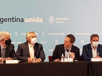 Alberto Fernández y Julián Domínguez se reunieron con el sector vitivinícola