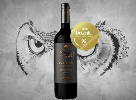 Callejón del Crimen fue distinguido en los Decanter World Wine Awards 2020