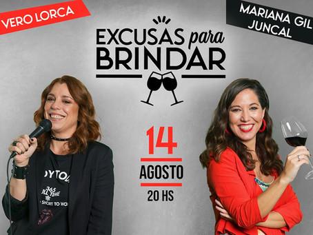"""Vero Lorca y Mariana Gil Juncal presentan """"Excusas para brindar"""""""