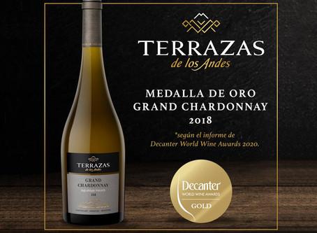 Terrazas de los Andes Grand, destacada en los DWWA 2020 por su Chardonnay 2018