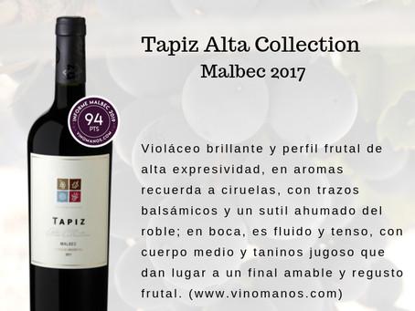 Tapiz Malbec, entre los vinos top de 2019