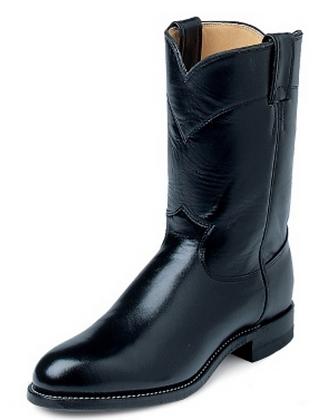 Justin Jackson Roper Black Western Boot